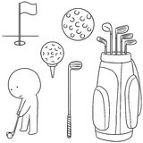 Golfer and golf equipment Royalty Free Stock Image