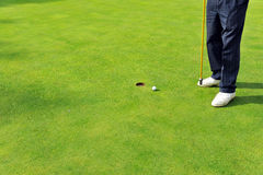 Golfer on the green, Andalusia, Spain Royalty Free Stock Images
