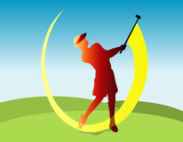 Golfer illustration Royalty Free Stock Photography