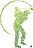 Golfer. Illustration art of a golfer with isolated background Stock Photography