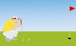 Golfer illustration 4 Royalty Free Stock Image