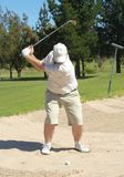 Golfer In The Sand Bunker Royalty Free Stock Photos