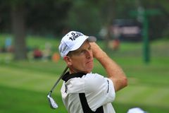 Golfer Jim Furyk on the course Stock Image
