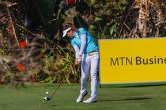 Golfer Klatten Driving Ball   Royalty Free Stock Image