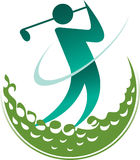 Golfer logo. Illustration art of a golfer logo with background vector illustration