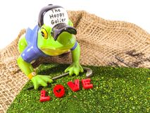 Golfer in love. Golfers golf love Stock Images