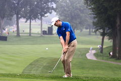 Golfer Martin Laird of Scotland. Scottish Pro golfer Martin Laird watches his chip shot at the PGA golf event Royalty Free Stock Images