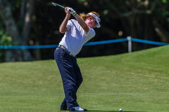 Golfer Miguel Angel Jimenez Swings Royalty Free Stock Images
