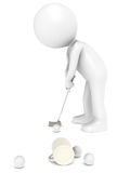 Golfer at the Office Royalty Free Stock Image