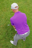 Golfer overhead rear view Stock Image