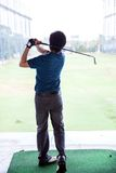 Golfer practicing Royalty Free Stock Photos