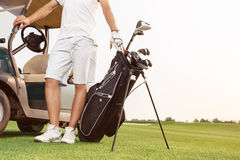 Golfer preparing for his next game Stock Photography