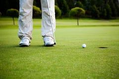 Golfer putting Royalty Free Stock Photo