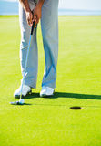 Golfer on Putting Green Stock Photos