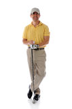 Golfer ready relaxing Stock Images
