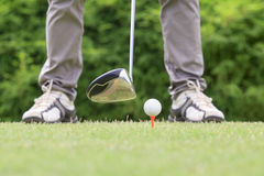 Golfer ready to tee off Stock Image