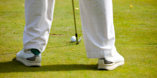 Golfer ready Royalty Free Stock Images