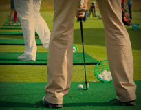 Golfer ready to tee off Royalty Free Stock Photo