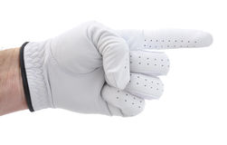 Golfer's Hand Pointing to the Right Royalty Free Stock Photos