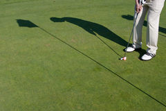 Golfer's Shadow - Horizontal Stock Image