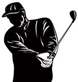 Golfer silhouette. Vector art of a Golfer silhouette isolated on white background Royalty Free Stock Images