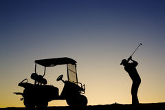 Golfer Silhouette Stock Photos