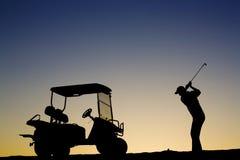 Golfer Silhouette Stock Photos