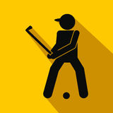 Golfer silhouette flat icon Royalty Free Stock Images
