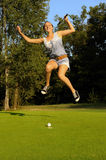 Golfer-six. A happy young golfer who'll succeed once Royalty Free Stock Photo