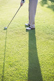 Golfer standing on the putting green Stock Images