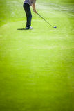 Golfer at the Start with Copyspace for your text Stock Photo