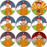 Golfer stickers Stock Images