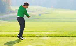 Golfer swing Royalty Free Stock Photography
