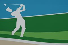 Golfer swinging Stock Photography