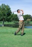 Golfer at the Tee Stock Photos