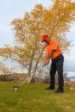 Golfer Teeing Off Stock Photos
