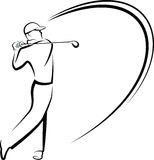 Golfer Teeing Off Stylized Stock Photo