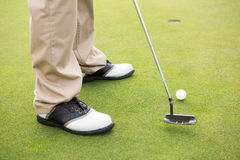 Golfer about to tee off Stock Photos
