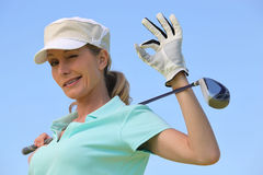 Golfer winking Stock Images