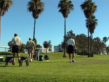 Golfers. Golfing on Coronado Island, California Stock Image