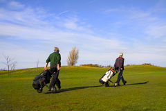 Golfers. Photo of the two golfers Royalty Free Stock Images