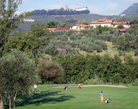 Golfers. Golf Course in Montecatini, Tuscany, Italy Stock Images