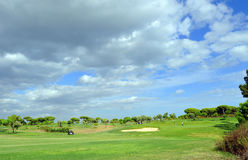 Golfers on the golf course, El Rompido, Andalusia, Spain Stock Photo
