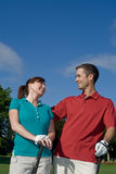 Golfers Laughing - Vertical Stock Image