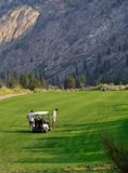 Golfers, Osoyoos, BC, Canada royalty free stock images