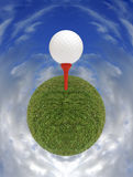 Golfers paradise planet Royalty Free Stock Photography