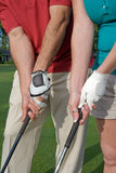 Golfers Practice Grip - Vertical Royalty Free Stock Image