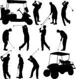 Golfers silhouettes collection