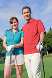 Golfers Smile At Camera - Vertical Stock Images
