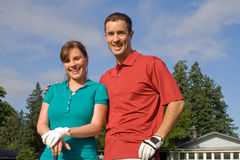Golfers Smile at Camera - Horizontal Stock Images
